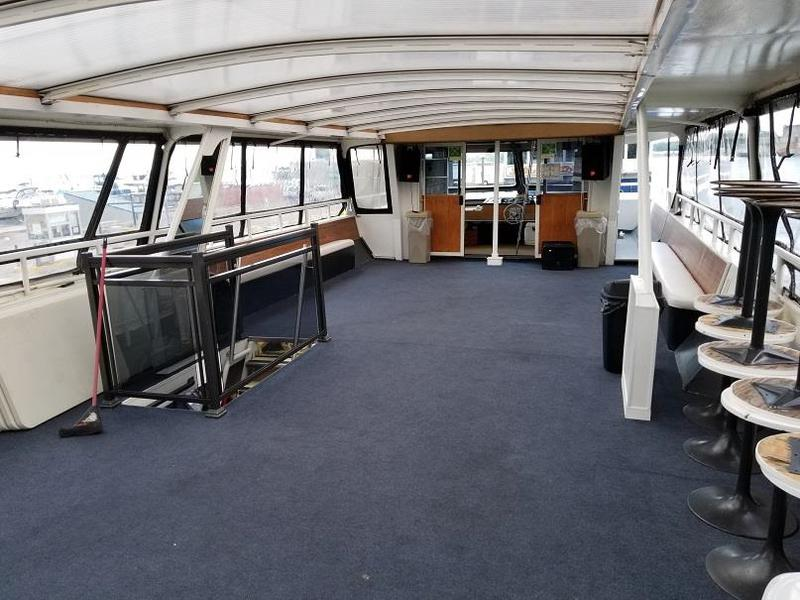 "1996   64'11"" x 18'6""  Aluminum 100 Passenger Vessel and Successful Tu"