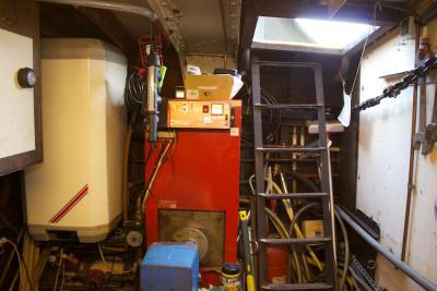 Boiler and hot water cylinder