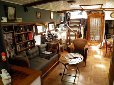 Saloon looking aft to exit stairs