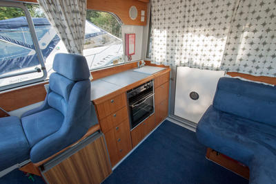 Galley and helm seat