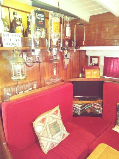 Bar in large aft saloon