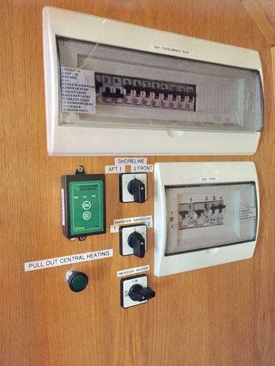 Control panels and fuse boards