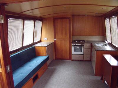 main saloon with connecting door closed