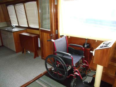 Steering with wheelchair option