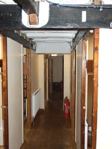 Corridor to cabins