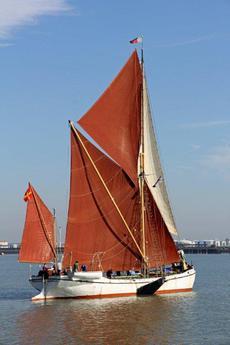 In full sail