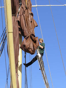 Bowsprit and mainmast