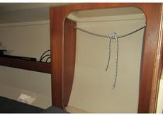hanging locker in cabin