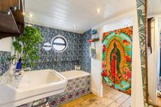 Full length bath and pressure shower