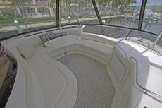 Flybridge Settee with A/C & Wet Bar