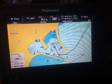 Raymarine touch-screen plotter