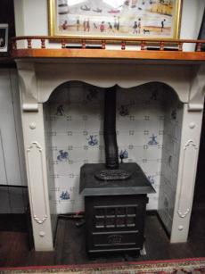 Oilstove and antique surround