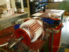 Rewinded steering gear motor