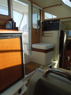 Galley towards cockpit door