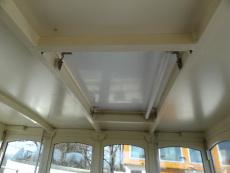 Hatchway in wheelhouse