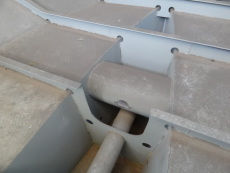 Stern tube and thruster tube fitted