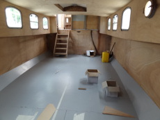 Forward section looking aft