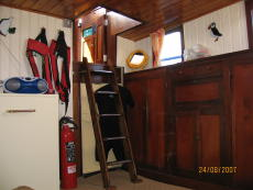 Access to aft cabin from wheelhouse