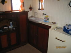 After cabin with sink