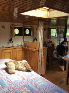 Masters cabin with storage units