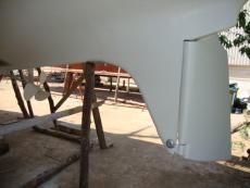 Rudder with skeg