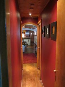 Hallway from cabins/bathroom