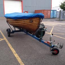 Boat cover on (before refurbishment)