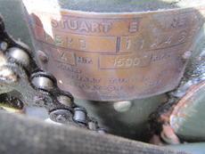 Engine nameplate (before refurbishment)