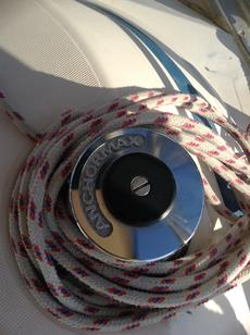 Electric winch for genoa