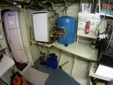 Central heating boiler and water pump