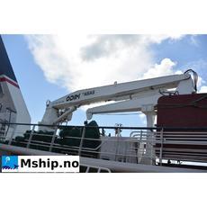Cargo/catch handling crane