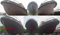 Before and after hull was painted FRONT