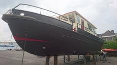 Newly painted hull front LEFT