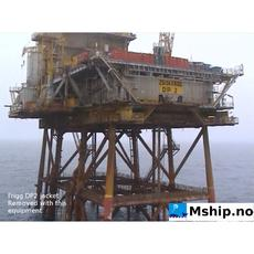Frigg DP2 platform 11.600 TON removed with this system