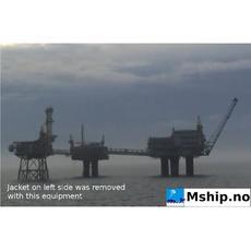 Frigg DP2 11.600 TON platform removed