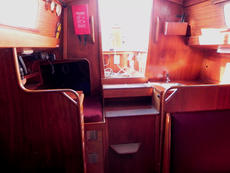 There is a good quarter berth to starboard, aft of the navigation table.