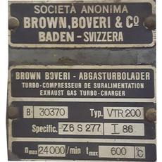 Turbo: Brown Boveri type VTR 200