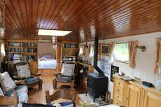Saloon looking forward into Master cabin
