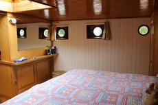 Master cabin view port side