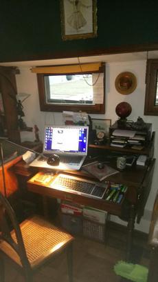 Writing desk in saloon