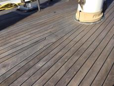 Natural teak decks