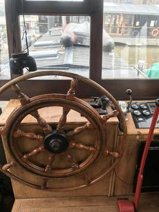 Wheel house with CD player and VHF