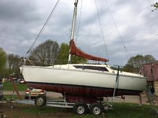 Yacht on Trailer