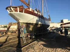 preparing hull in Sept 2017