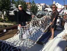 Constructing new bowsprit netting