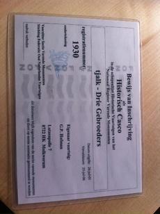Certificate of historic casco status