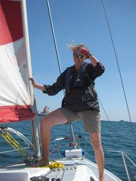 Foredeck with Sail
