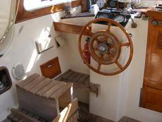 Steering position in cockpit
