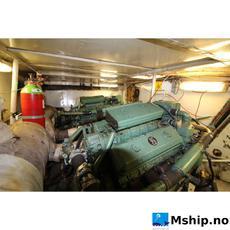 Engine room 2 x Detroit 8V71T