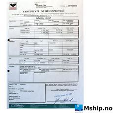 Liferaft certificate